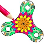 Coloring Book - Color Fill Spinner Icon