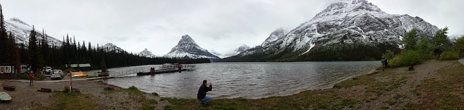 Photo: Awesome view from Two-medicine lake. With a boat!