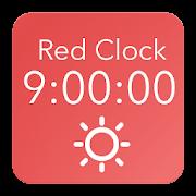 Red Clock - Speaking Desk Clock APK for Bluestacks