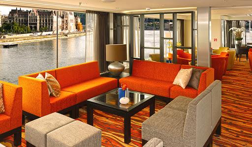 Avalon-Artistry-II-panorama-lounge-2 - Watch Europe sail by from Avalon Affinity II's Panorama Lounge.