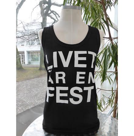 """Svart damlinne """"Livet är en fest"""""""