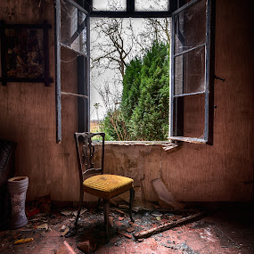 Forgotten chair by Marlou Nijpels - Buildings & Architecture Decaying & Abandoned ( broken, urban, chair, old, urbex, exploring, decay, abandoned,  )