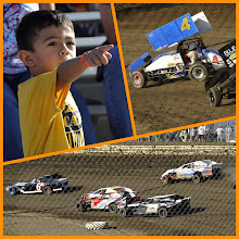 Photo: Grant was thrilled and delighted watching the race cars. His favorites were the Modifieds and Sprints roaring past. We kept it a secret from him all this time. — at Eagle Raceway.