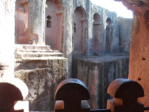 Photo: Rock-hewn church in Lalibela