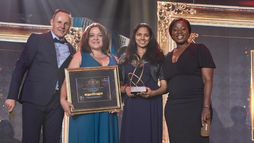 From left: Mark Kuipers, second Vice-President of IRMSA; Cindy Bodenstein, Marketing Manager of ContinuitySA; Padma Naidoo, GM: Advisory Services of ContinuitySA; and Fulufelo Tshikhudo, Honorary Secretary of IRMSA.