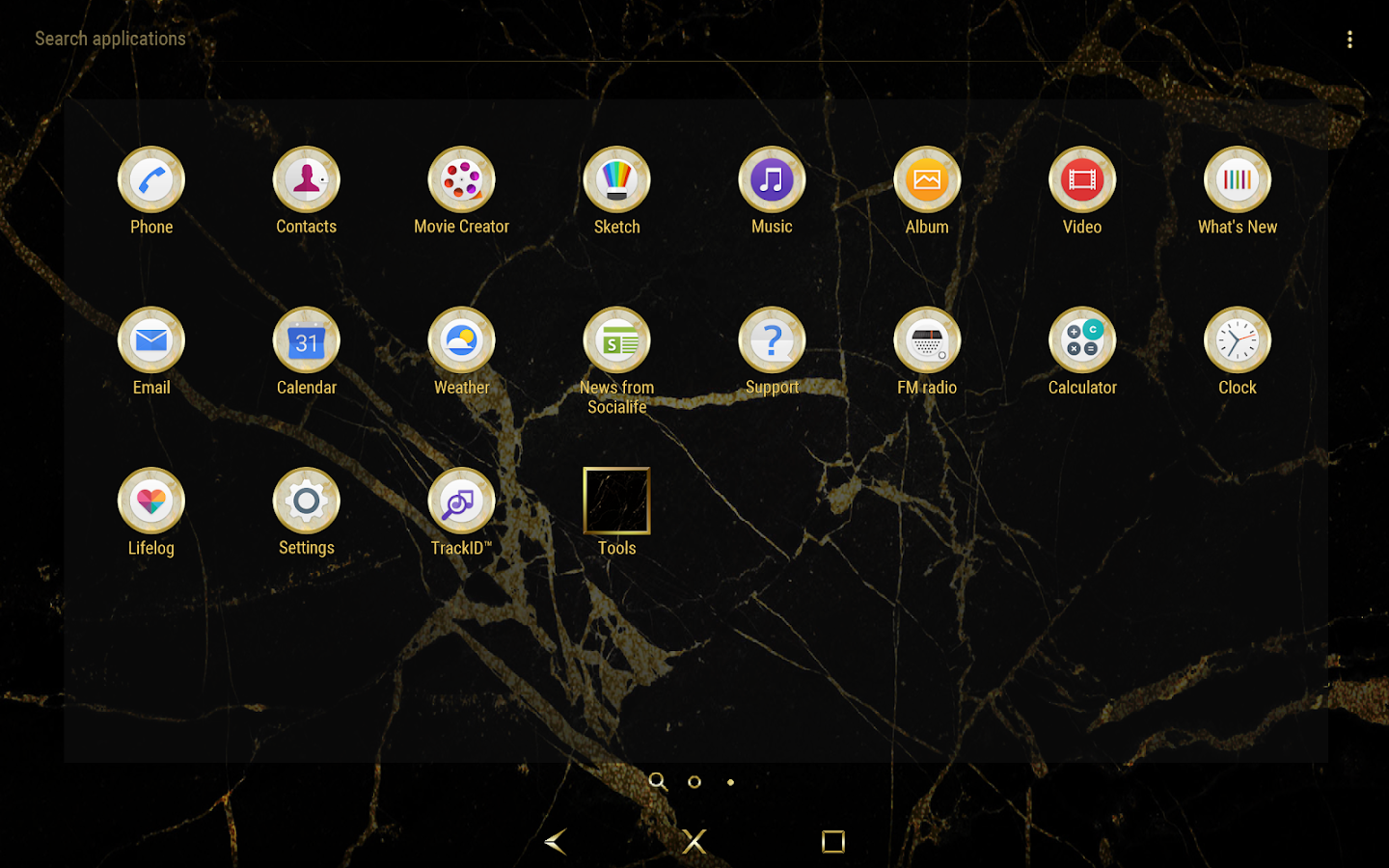 Golden Marble Theme for Xperia- screenshot