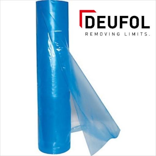 VCI packaging foil on roll. Blue - transparent.