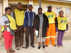 Photo: Custodian and Principal of Elufefeni Primary School where Motherwell Group met in an office and 3 classrooms.