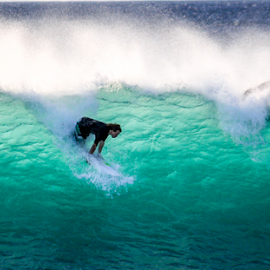 by Keith Sutherland - Sports & Fitness Surfing ( surfing, wave, surf, fast, crowd )