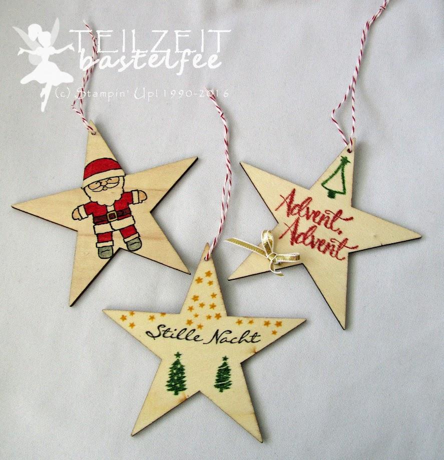 Stampin' Up! – In{k}spire_me #328, Christmas, Weihnachten, Behang, hanging decoration, stars, Kling Glöckchen, Jingle all the Way, Ausgestochen weihnachtlich, Cookie Cutter Christmas, Watercolor Christmas, Malerische Weihnachten