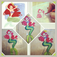 Photo: Mermaid painting by Raelynn, Azusa, Ca. Call to book her today! 888-750-7024