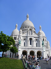 Photo: We set off on our first day on a city orientation, to see it from several vantage points, starting at nearby Sacre Coeur, whose foundation stone was laid in June, 1875. It's less than 10 minutes away on foot (although we did use the funicular for the last of the climb). The weather is lovely on our first morning.