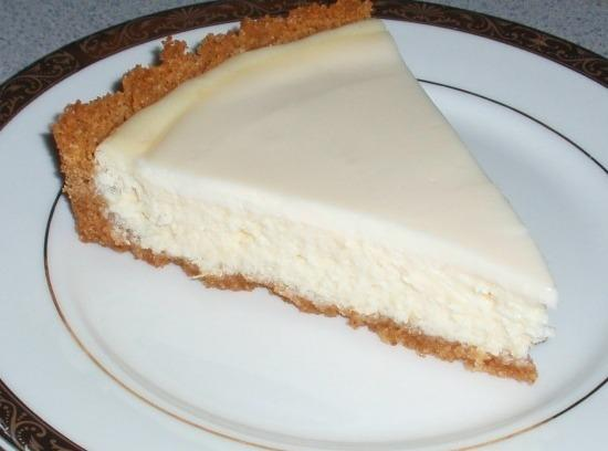 Cut into 8 equal slices and serve with chilled pie filling.