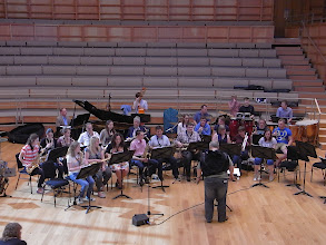 Photo: The University Big Band, conducted by Ian Swatman, rehearsing in the afternoon ahead of the Big Band Gala.