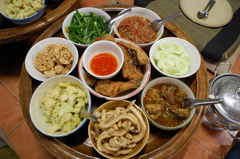 Photo: Home cooked khantoke dinner