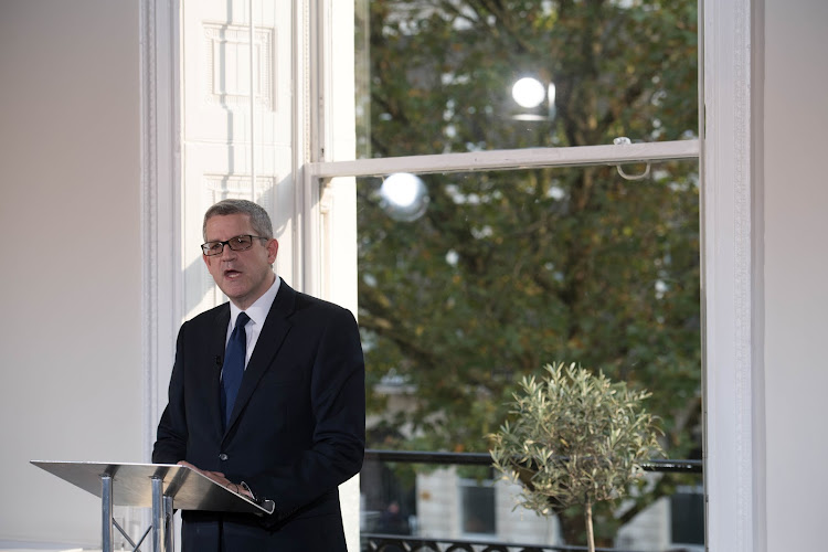 Director General of MI5 Andrew Parker delivers a speech in central London, on the security threat facing Britain October 17, 2017.