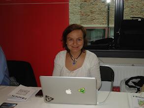 Photo: Lenka Kasparova at MySQL booth