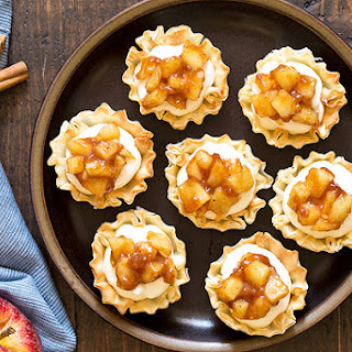 No Bake Apple Pie Cheesecake Phyllo Cups.