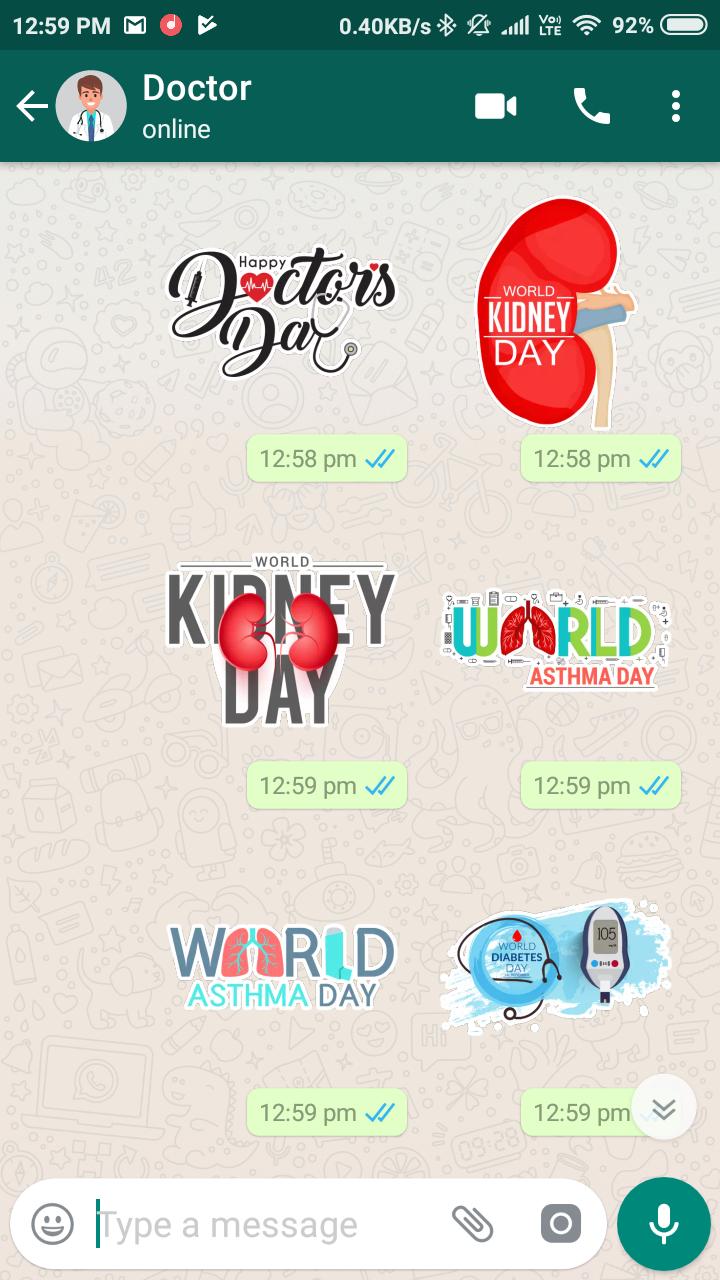 Скриншот Medical Stickers for Whatsapp