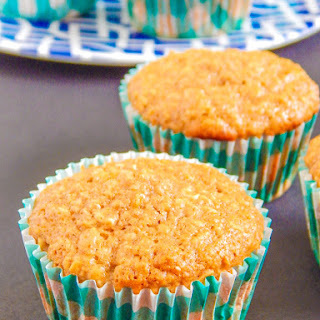Clean Eating Pineapple Ginger Oatmeal Muffins