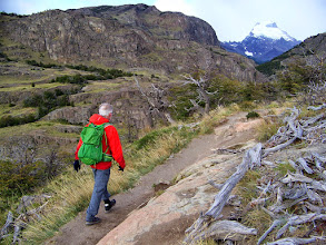 Photo: Dan leads the way on our 13-mile round trip to Lago Torre