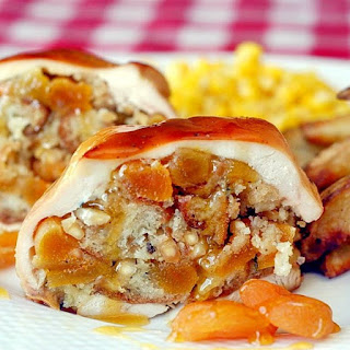 Slow Cooker Apricot-Almond Stuffed Chicken