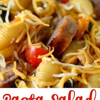 Pasta Salad with Bratwurst.
