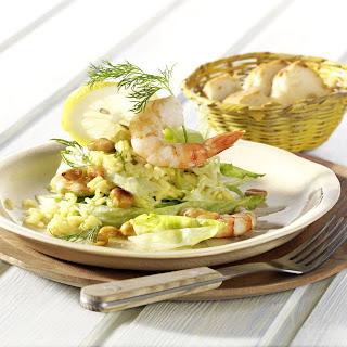 Garnelen-Schichtsalat