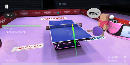 Table Tennis ReCrafted! android2mod screenshots 2