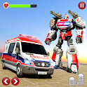 Ambulance Robot Car Transform: War Robot Games icon