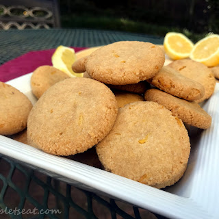 Paleo Vegan Lemon Cookies.