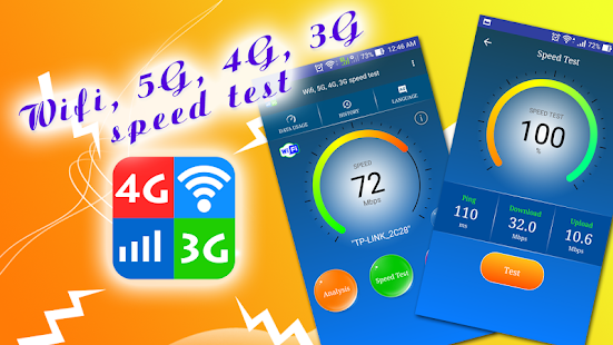 Wifi, 5G, 4G, 3G speed test - náhled