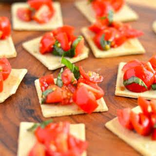 Gluten Free Tomato Bruschetta.