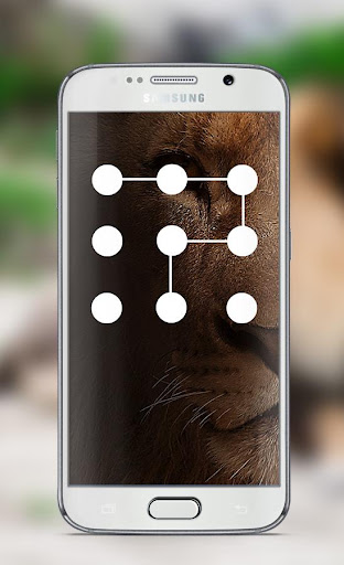 Lion Pattern Lock Screen