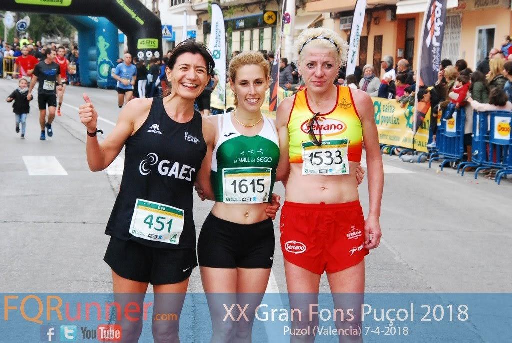 Podium Femenino Gran Fons Puçol 2018