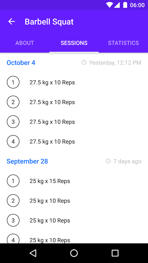 Progression Workout Tracker- screenshot