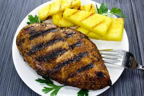 """Simple Honey Balsamic Grilled Chicken """"Chicken breasts are a healthy summertime dinner..."""
