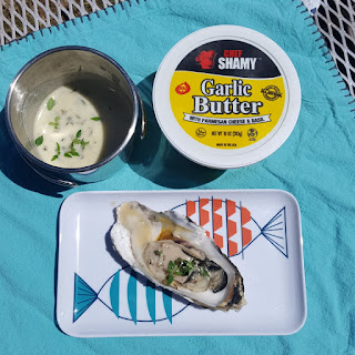 Grilled Oysters with Lemon Garlic Butter Recipe