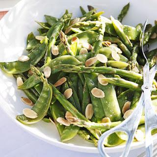 Asparagus, Snow Pea and Almond Salad