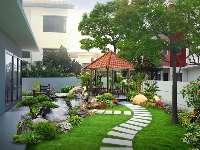 sân vườn farmstay