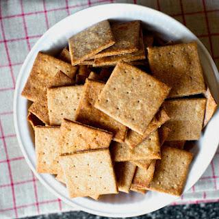 Homemade Wheat Thin Crackers.
