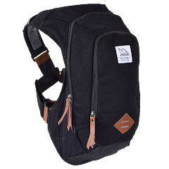 Scrambler™ 16L Bounce Free Retro Daypack, Canvas Black