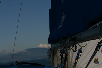 Photo: Mount Baker on a wonderful sail in the bay, cracked off and rolling
