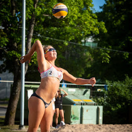 Beach volley by Simo Järvinen - Sports & Fitness Other Sports ( 2018, salo, beach volley, sport )