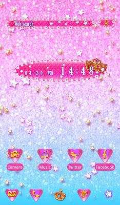 Star wallpaper Dreamy Glitter - screenshot