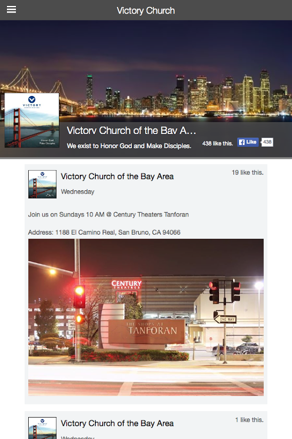 Victory Church of the Bay Area- screenshot