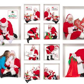 Coming to town by Todd Wallarab - People Portraits of Men ( kissing, mistletoe, jolly, christmas, santa )