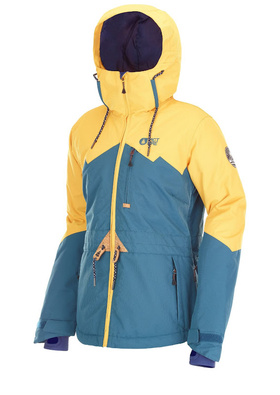 Picture Organic Clothing - Weekend Jacket / Petrol Blue Yellow