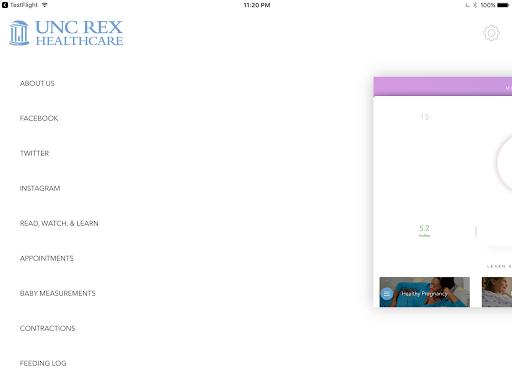 UNC REX Pregnancy & Baby screenshot 12