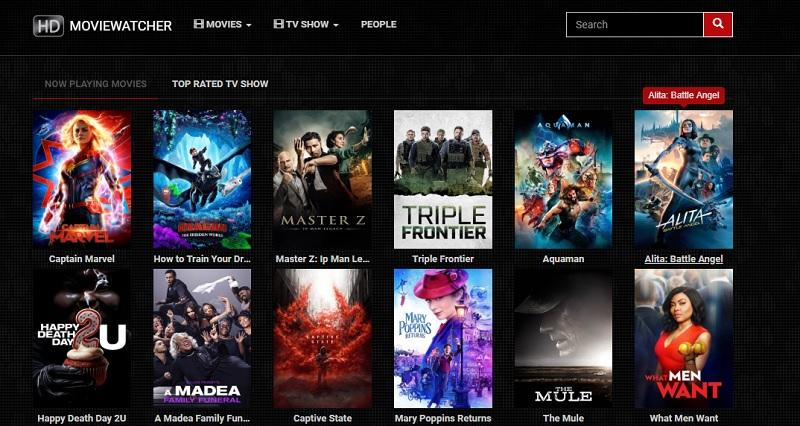 moviewatcher home page
